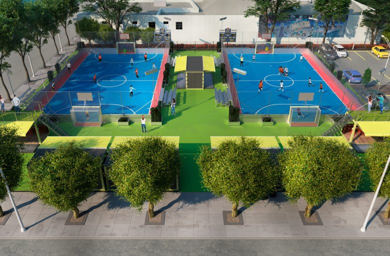 official futsal pitch size